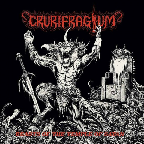 "CRURIFRAGIUM - "" Beasts of the Temple of Satan "" LP"