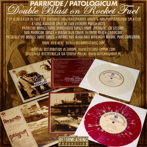 "PARRICIDE / PATOLOGICUM -""Double Blast On Rocket Fuel"" 7""EP"