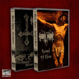 "CHRIST AGONY -""Sacronocturn & Epitaph of Christ"" DOUBLE PACK 2xTAPE"