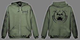 "MYSTHICON-""Into The Dark"" ZIPPED HOODIE KHAK"