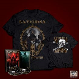 "BATUSHKA - ""ЧЕРНАЯ ЛИТУРГИЯ / BLACK LITURGY"" T-SHIRT + DIGI PACK DVD/CD"