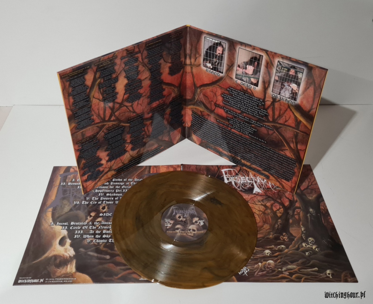 "OBSECRATION - ""Onwards The Mystic Paths Of The Dead"" 12"" GATEFOLD MARBLED AMBER LP"