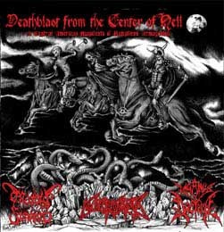 "MORBID FUNERAL/NECROLISIS/PAGANUS DOCTRINA-""Deathblast from the Center of Hell"" CD"